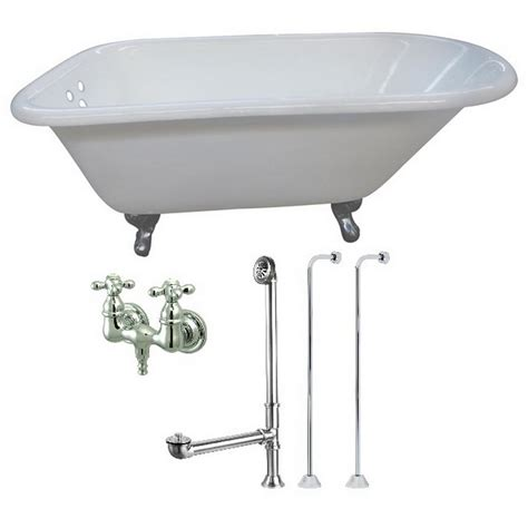 4 5 ft bathtub aqua eden petite 4 5 ft cast iron clawfoot bathtub in