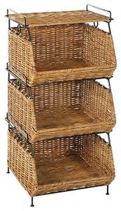 bathroom cabinet with baskets stackable filing rattan baskets in contemporary