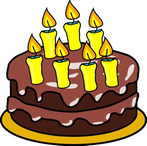 Balon Hbd Bw 7th birthday cake clip at clker vector clip