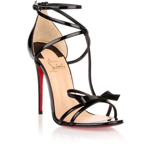 christian louboutin blakissima 100 black patent leather sandal 750 liked on polyvore