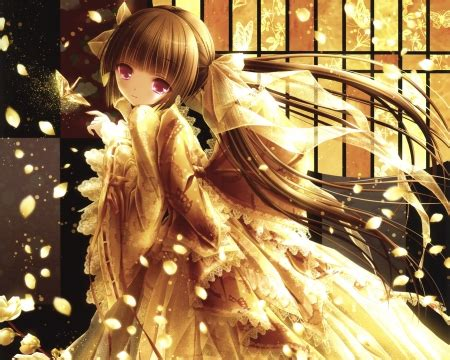 girl with brown hair and gold eyes golden tinkle other anime background wallpapers on