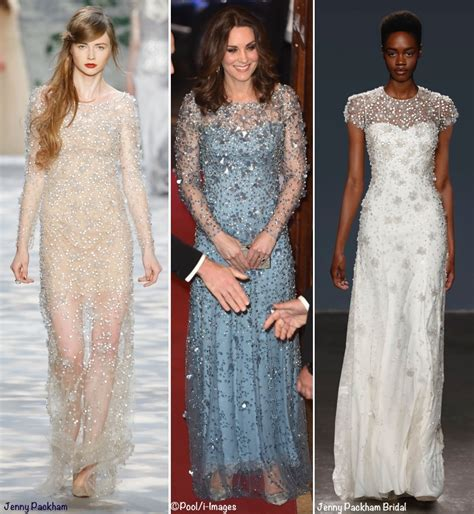 Chandelier With Crystals Kate Shines In Shimmering Jenny Packham Gown For Royal