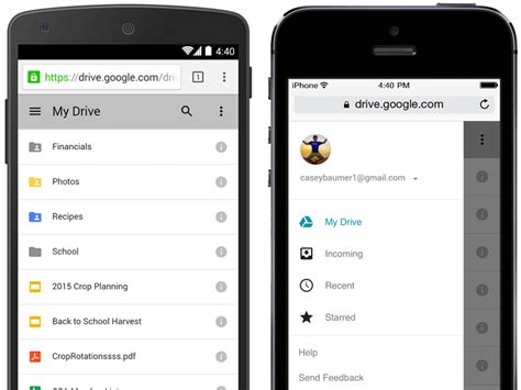 drive app google drive mobile web app redesign rolling out now