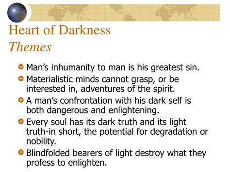 Themes In Heart Of Darkness And Things Fall Apart | ppt heart of darkness themes powerpoint presentation