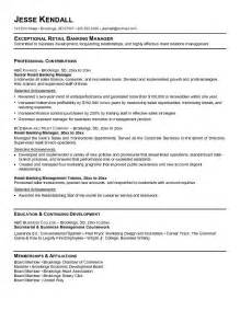 Retail Resume Exle by Exle Retail Banking Resume Free Sle