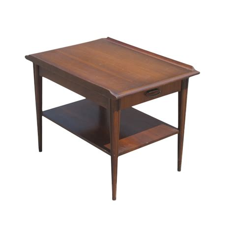 End Tables Vintage Mid Century Scandinavian Style Mahogany End Table