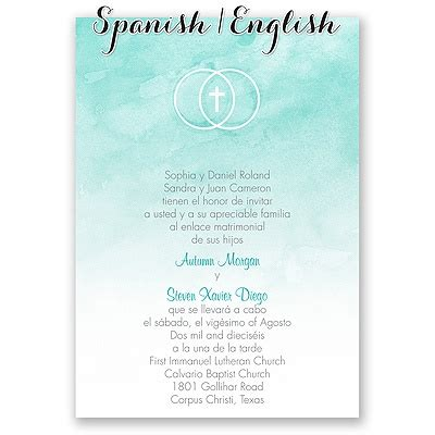 spanish wedding invitation wording