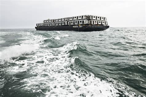 being as an ocean the spectacular sight of train carriages being dumped into