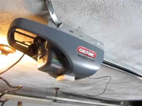 Installing Genie Silent Max 1000 Garage Door Opener Youtube Silent Garage Door Opener