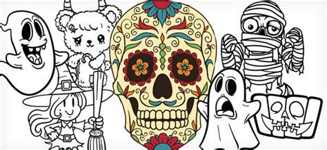 imagenes de calaveras y brujas los 10 mejores dibujos de halloween para colorear