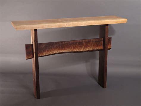 live edge console table console table w live edge stretcher minimalist modern hall