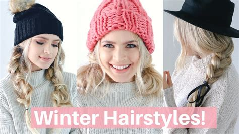 Hairstyles For Work Hats by Easy Hairstyles For Winter Hats And Scarves Hair