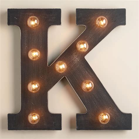 K Marquee Light World Market Marquee Lights