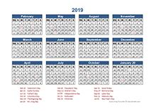printable  accounting calendar templates