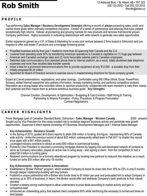 Regional Sales Sle Resume by Regional Sales Manager Professional Resume Sle Resume Sles