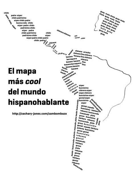 cool kids speak spanish 1512234966 slang map of how to say quot cool quot in different spanish speaking countries spanish slang
