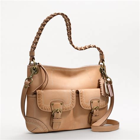 couch hand bags coach poppy leather whipstitch hippie bag all handbag