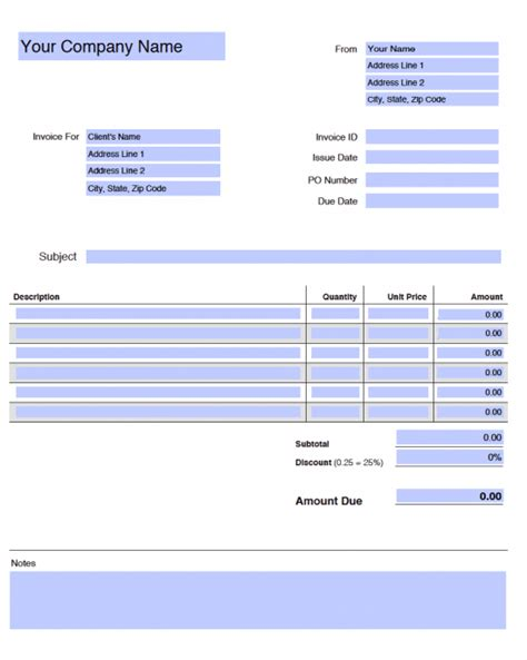 adobe receipt template free blank invoice templates in adobe pdf pdf