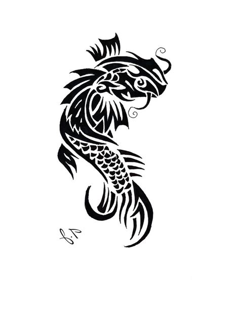 tribal koi fish tattoos tribal koi fish elaxsir