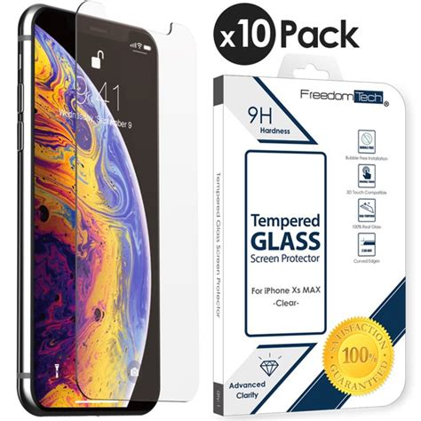 pack iphone xs max tempered glass screen protector