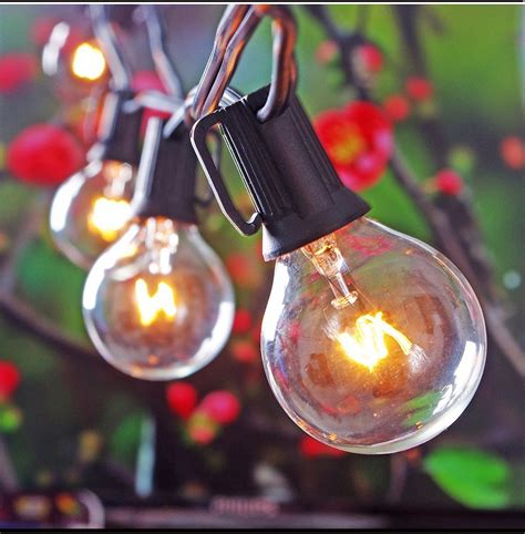25ft Globe String Lights With 25 G40 Bulbs Vintage Patio Globe String Lights For Sale