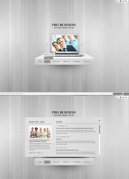 business template html5 pro business html5 template