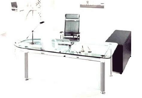 Glass Desk Tops For Office Computers Clear Office Desk