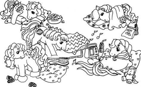 monster high sleepover coloring pages slumber party