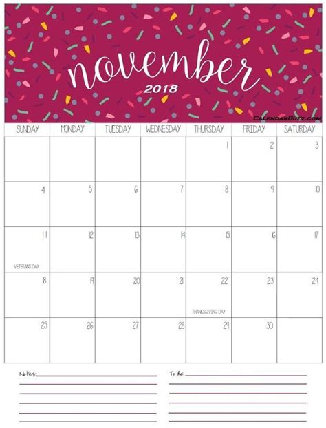 cute november  calendar images calendar printables november calendar  holiday calendar