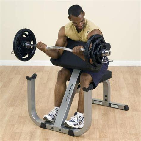 bench biceps body solid gpcb329 preacher curl bench biceps
