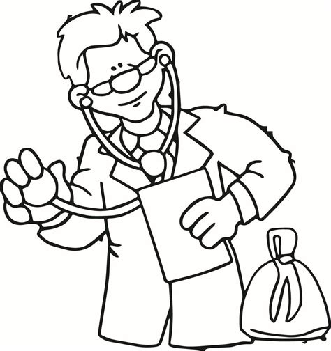 Doctor Coloring Pages For Kids Coloring Home Doctor Colouring Pages