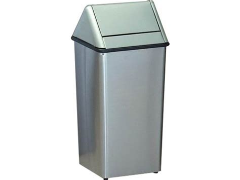 Stainless Steel Swing Top Trash Can 13 Gal Indoor Trash Cans