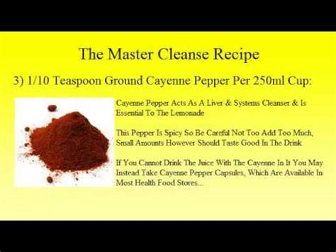 10 Day Master Cleanse Detox Diet by Master Cleanse Recipe