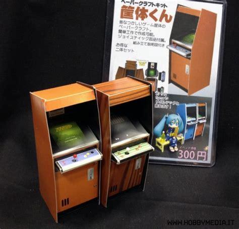 Papercraft Arcade - japanese arcade cabinets papercraft papercraft