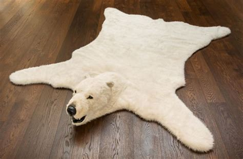 faux polar skin rug with polar skin rug tedx decors the best polar skin rug for house decoration