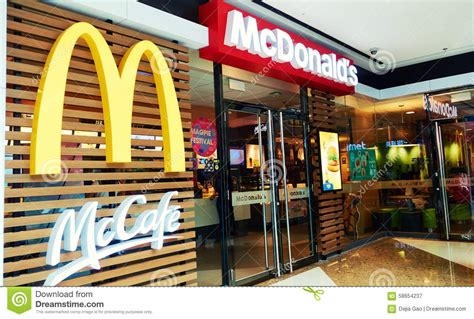 golden fast mcdonalds editorial photography image 58654237