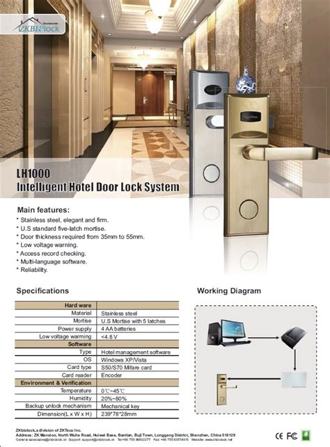 lh1000 intelligent hotel door lock system atss chennai india