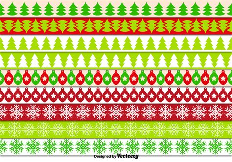 christmas pattern border decorative christmas borders download free vector art