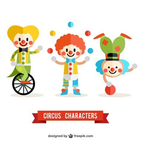 imagenes joker caritas pack de payasos de circo descargar vectores gratis