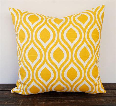 Yellow Pillows Yellow Pillow Cover One Corn Yellow Cushion Cover