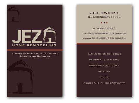 jez home remodeling logo  business card  sara