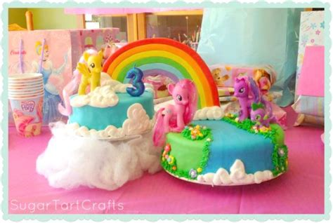 Hiasan Kue Tart Birthday Cake Topper Pony Poni Mungil 16pc aurelia s my pony birthday stitch and pink