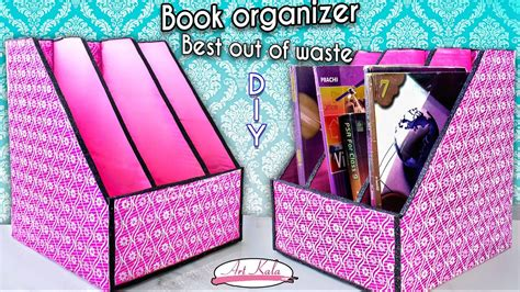 books on how to a how to make book holder book organizer best out of waste diy artkala 144