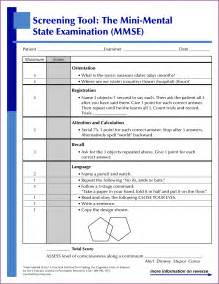 Mental Status Template by Sle Mental Status Template Free Image