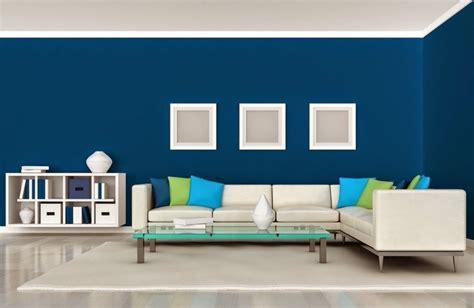 perpaduan warna cat tembok biru muda desain rumah