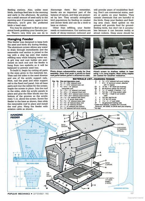 popular mechanics woodworking plans 17 best images about bird feeder plans on