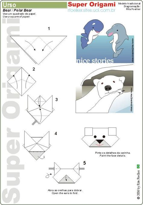 Origami Polar Folding - polar bears origami and easy origami on