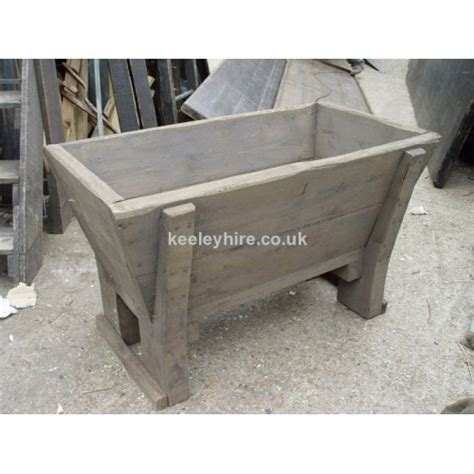 prop hire 187 troughs 187 small wood water trough keeley hire