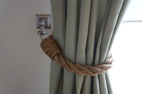 diy curtain tie back ideas diy rope tie backs m a k e i t pinterest guest rooms