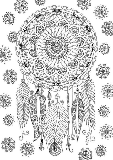 coloring pages for adults dreamcatchers 156 best dreamcatcher coloring pages for adults images on
